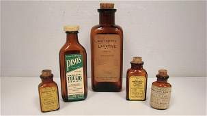 5 VINTAGE APOTHECARYPHARMACAUTICAL ITEMS