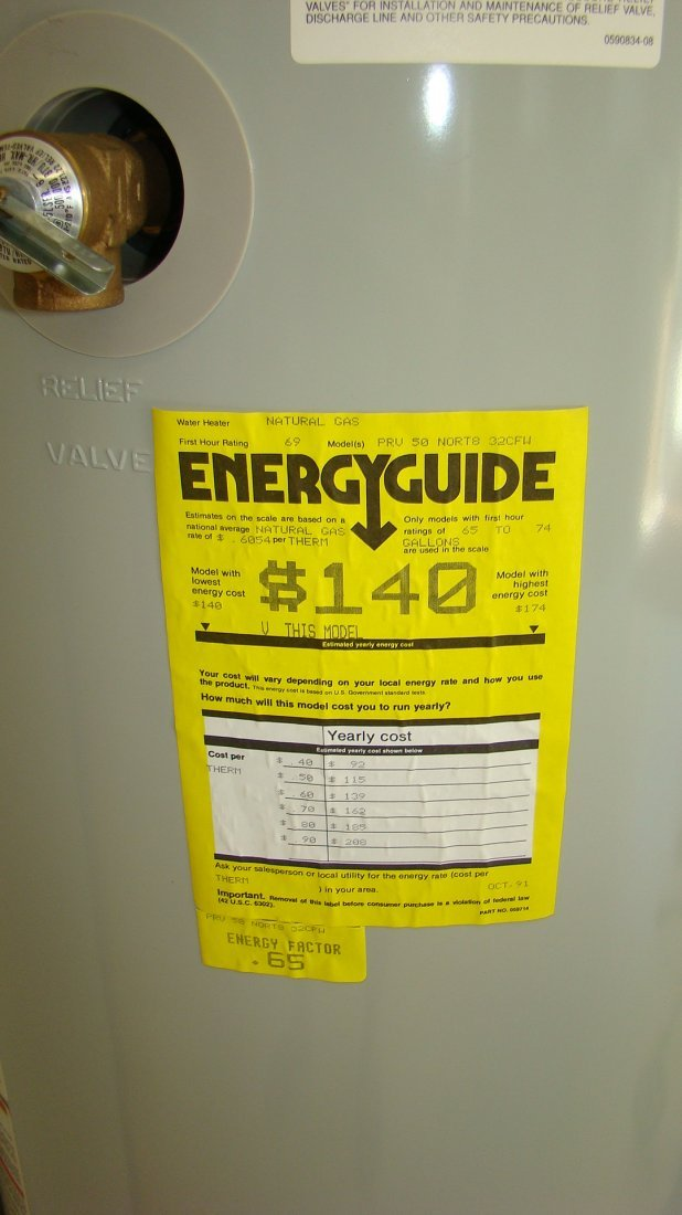 NEW STATE CENSIBLE 510E HOT WATER HEATER - 2