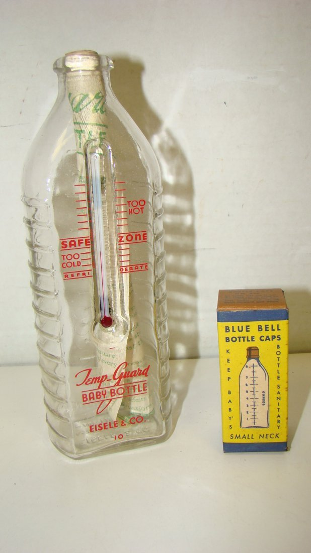LIKE NEW VTG TEMP-GUARD BABY BOTTLE W/ THERMOMETER