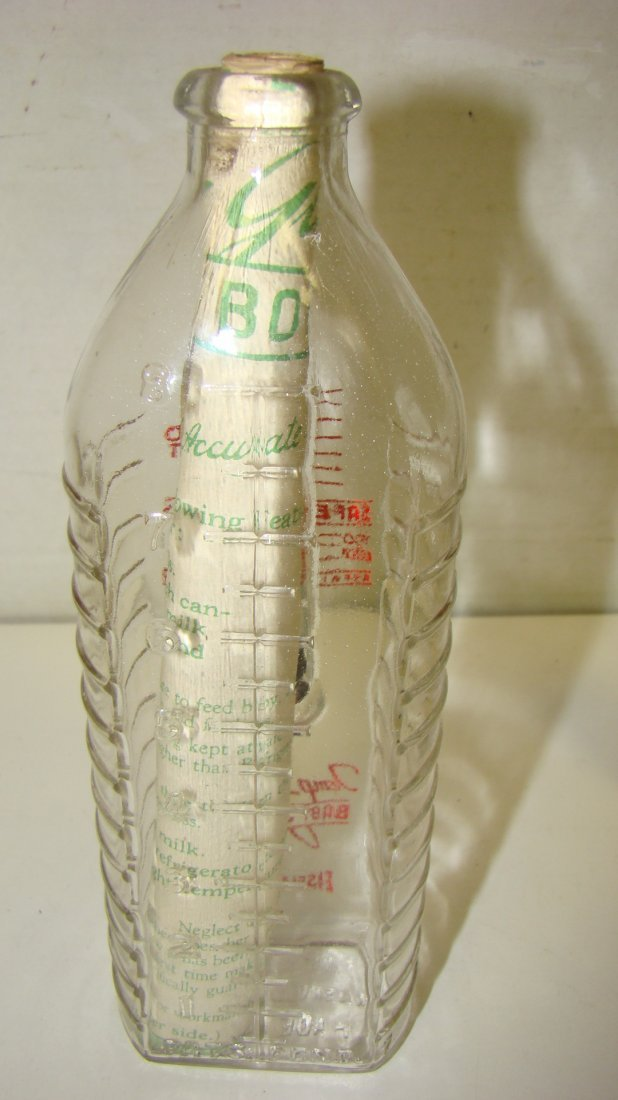 LIKE NEW VTG TEMP-GUARD BABY BOTTLE W/ THERMOMETER - 4