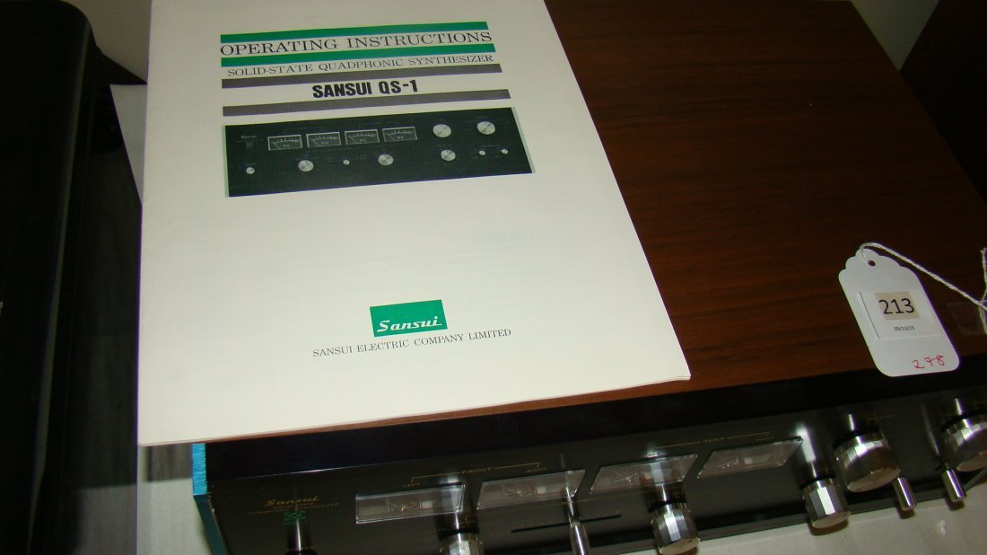 SANSUI QS-1 SOLID-STATE SYNTHESIZER-ORIGINAL BOX - 2