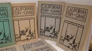 16 VOLUMES CA FISH  GAME BOOKS