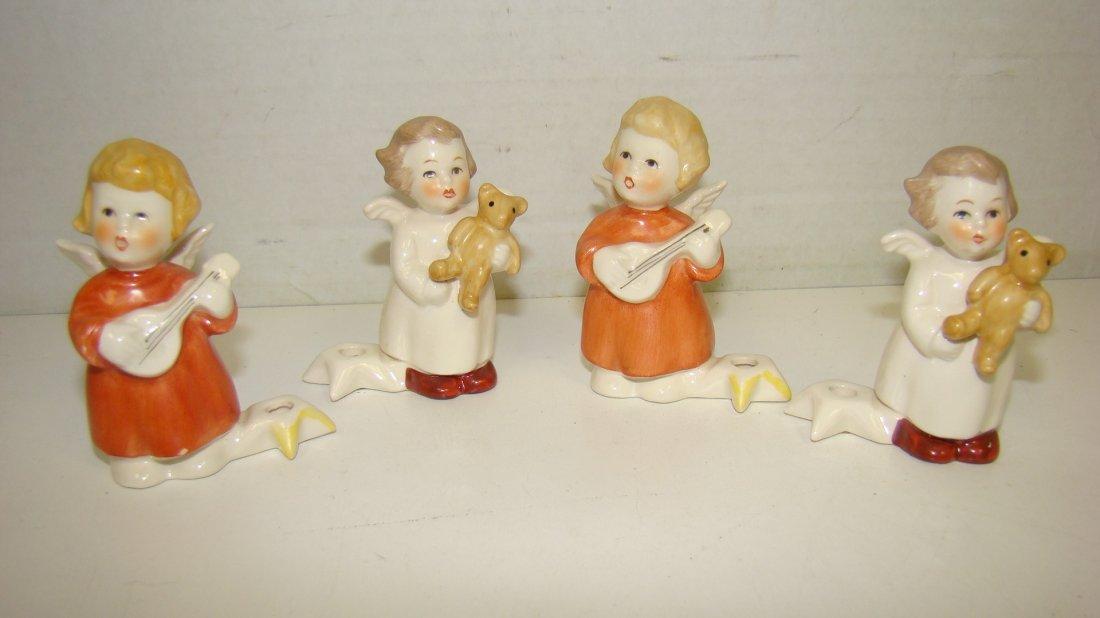 4 VINTAGE GOEBEL CANDLEHOLDER ANGELS
