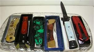 7 LIKE NEW FOLDING KNIVES