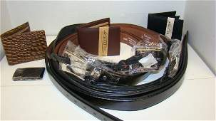 MENS NEW LEATHER BELTS  WALLETS