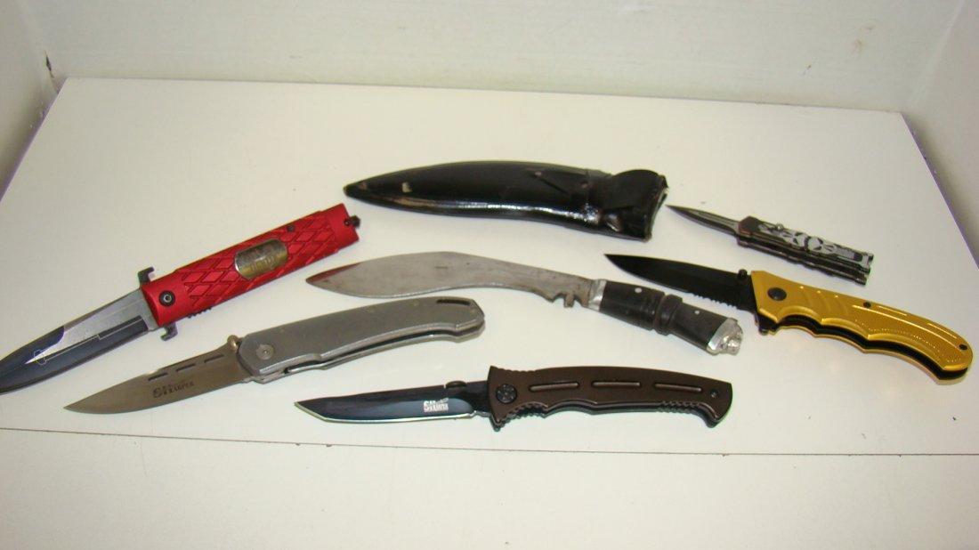 6 VARIOUS LIKE NEW KNIVES
