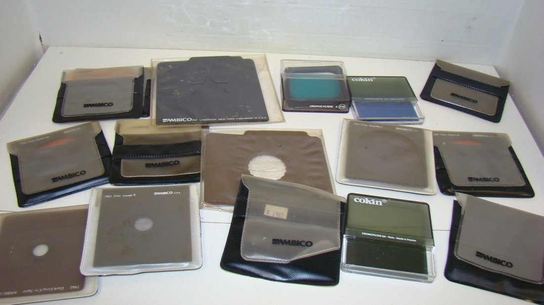 VARIOUS AMBICO & COKIN ENLARGER FILTERS