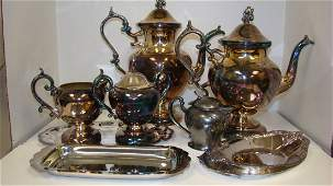 VARIOUS SILVERPLATE ITEMS