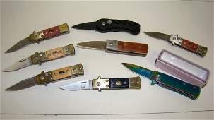 8 LIKE NEW SMALL POCKET KNIVES