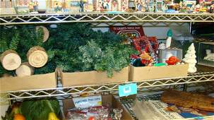 SHELF  VARIOUS CHRISTMAS ITEMS