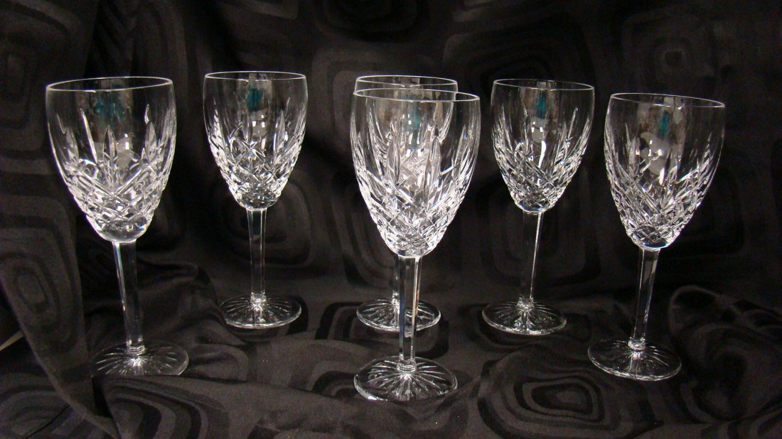 SET OF SIX WATERFORD CRYSTAL STEMS