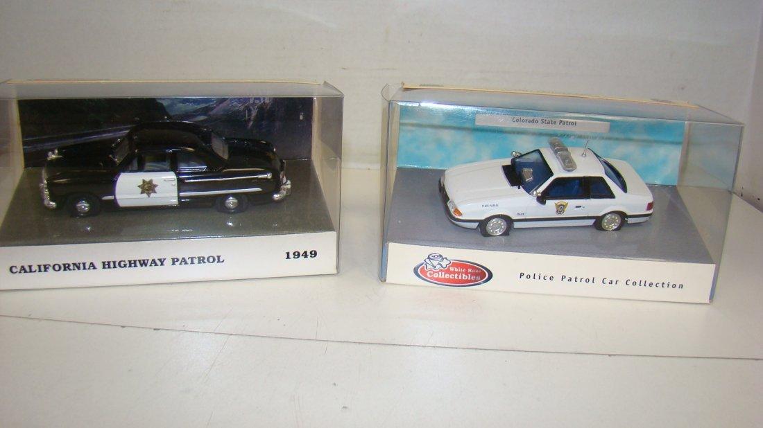 2 NIB WHITE ROSE DIE-CAST POLICE CARS