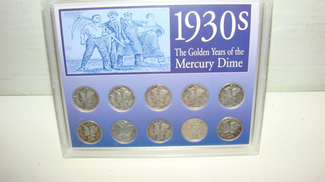 1930'S MERCURY DIME COLLECTION