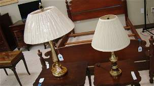 2 BRASS COLOR BASE TABLE LAMPS