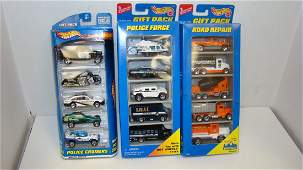 3 HOT WHEELS SETS OF 5 DIE CAST CARS