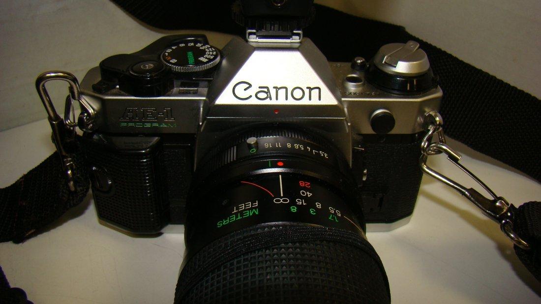 CANON AE-1 PROGRAM CAMERA & ACCESSORIES - 3