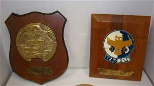 6 VINTAGE MILITARY  OTHER AWARD PLAQUES