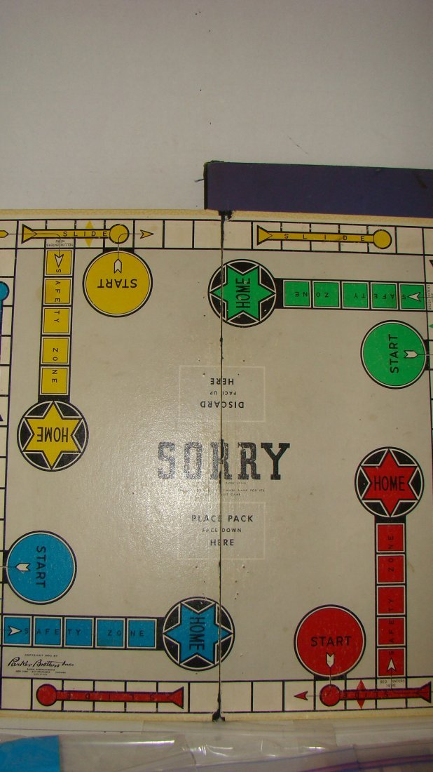 1933 MONOPOLY & 1954 SORRY GAME BOARDS & PCS - 3