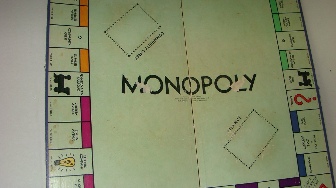 1933 MONOPOLY & 1954 SORRY GAME BOARDS & PCS - 6