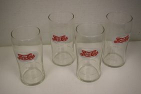 4 Nos Pharmacy Soda Fountain Pepsi Glasses