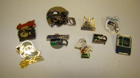 9 Various Nfl Seattle Seahawks Pins