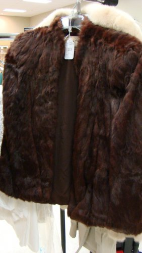 Vtg Canadian Fur Co Mink Cape