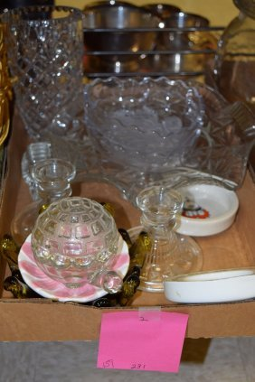 2 Boxes-various Pottery & Glass