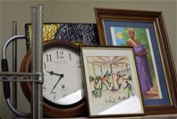 SHELFROUND WALL CLOCK  VARIOUS ARTWORK