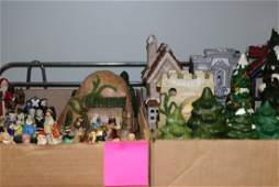 2 BOXES - VARIOUS CERAMIC XMAS ITEMS