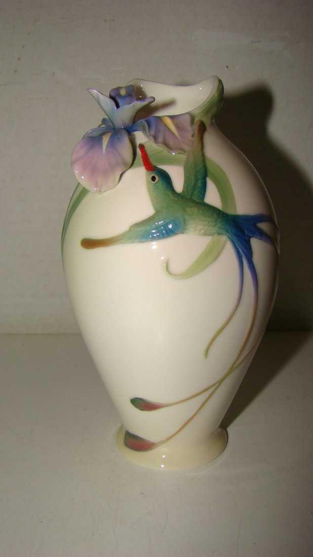 Franz Porcelain Hummingbird Vase