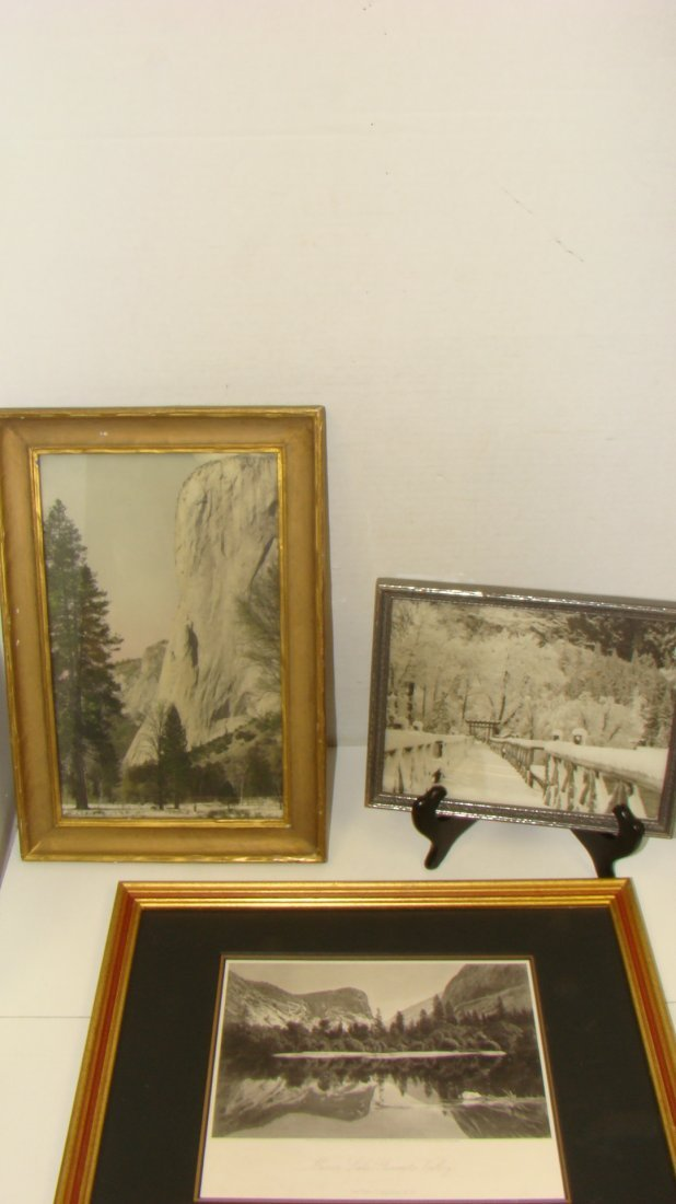 3 VINTAGE FRAMED PHOTOS OF YOSEMITE