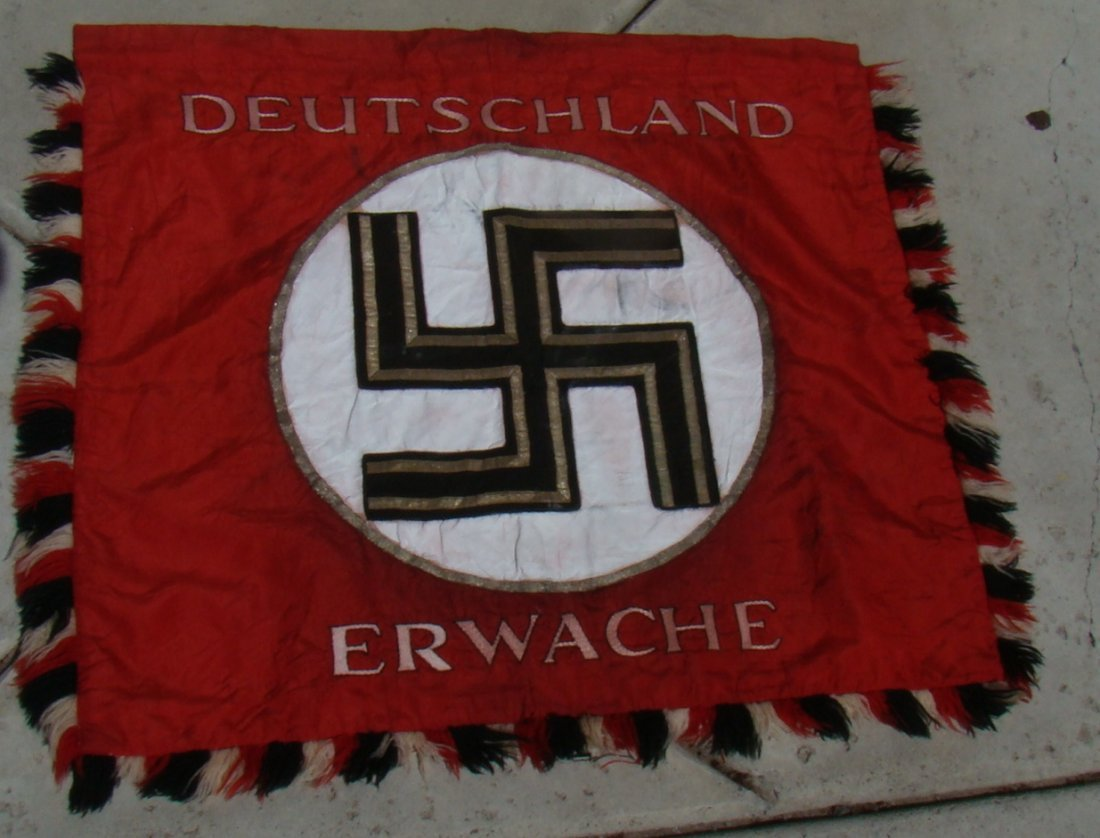 DEUTSCHLAND ERWACHE THIRD REICH NAZI STANDARD FLAG