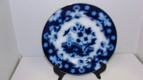 Vintage Burslem Flow Blue Plate