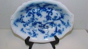 Ridgways Gainsborough Flow Blue Serving Bowl
