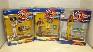 3 NIB WC NASCAR STARTING LINEUP FIGURES
