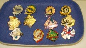 12 Various Mlb Team Lapel Pins