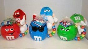3 M&m Coffee Mugs & Plush Toy Sets