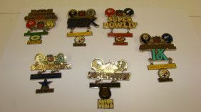 6 Peter David Superbowl Pins