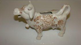 Staffordshire Transferware Cow Creamer