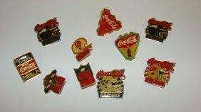 10 Coca-cola Nfl Lapel Pins