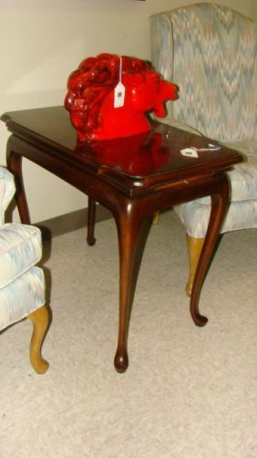 Walnut Color Lamp Table