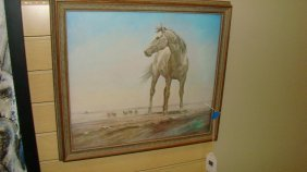 Vintage Betty Donahue Horse Print ''caballo Magnifi