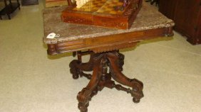 True Victorian Marble Top Parlor Table