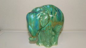 Green Pottery Elephant