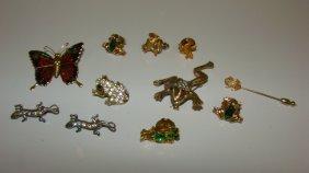 11 Costume Frog-butterfly & Lizard Pins