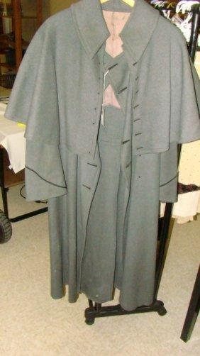 Vintage Sherlock Holmes Style Wool Coat