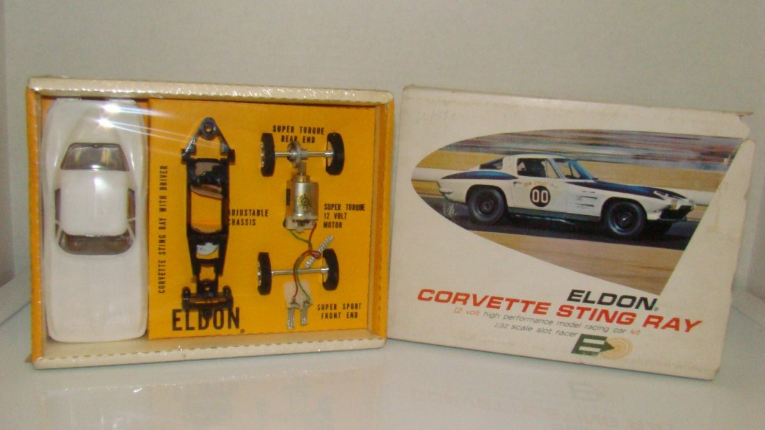 VINTAGE ELDON SLOT RACER KIT CORVETTE UNOPENED