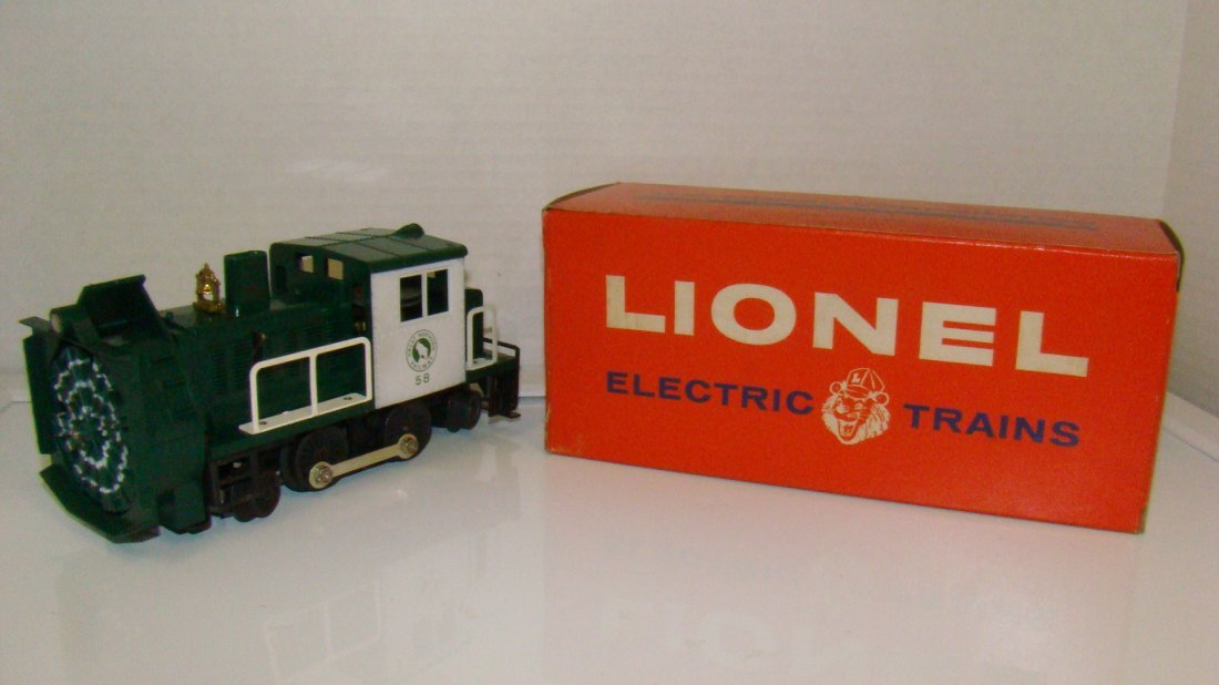 POST WAR LIONEL NO. 58 ROTARY SNOW PLOW-ORIG BOX