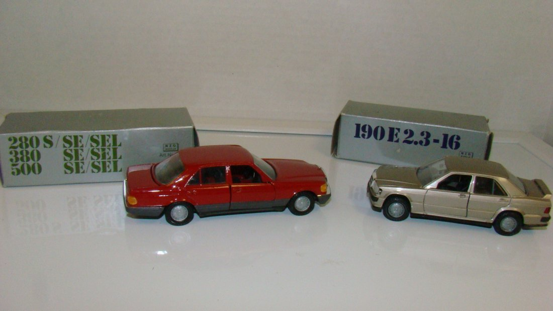2 NIB NZG PRODUCTS MERCEDES MODEL CARS