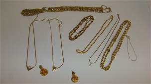 VARIOUS GOLD TONE COSTUME JEWELRY